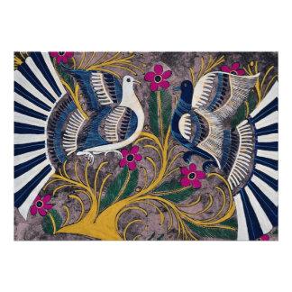 Diseño mexicano pintado, Cuernavaca, México Comunicados