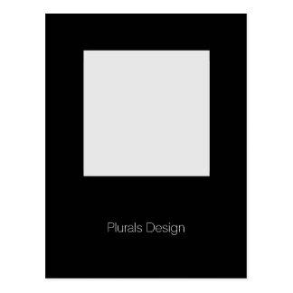 Diseño mínimo - postal