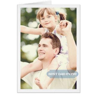 Diseño moderno de la mejor foto siempre de encargo tarjeta de felicitación