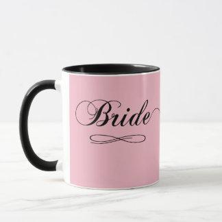 Diseño moderno de la novia taza