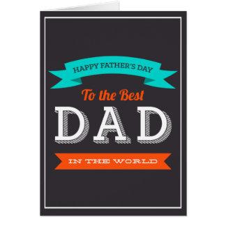 Diseño moderno de la tipografía del día de padre tarjeta de felicitación