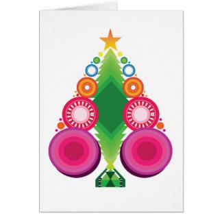 Diseño moderno del ejemplo del árbol de navidad tarjeta de felicitación