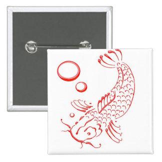 Diseño moderno rojo de Koi Pin