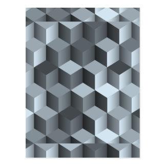 Diseño monocromático del cubo 3D Postal
