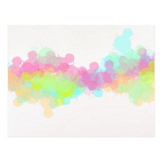 Diseño multicolor del extracto de la acuarela del postal