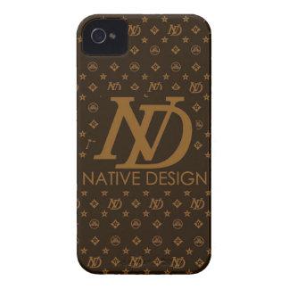 Diseño nativo del lv del diseño Case-Mate iPhone 4 cobertura
