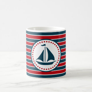 Diseño náutico taza de café