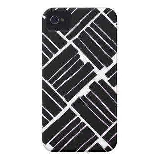 Diseño negro Case-Mate iPhone 4 fundas