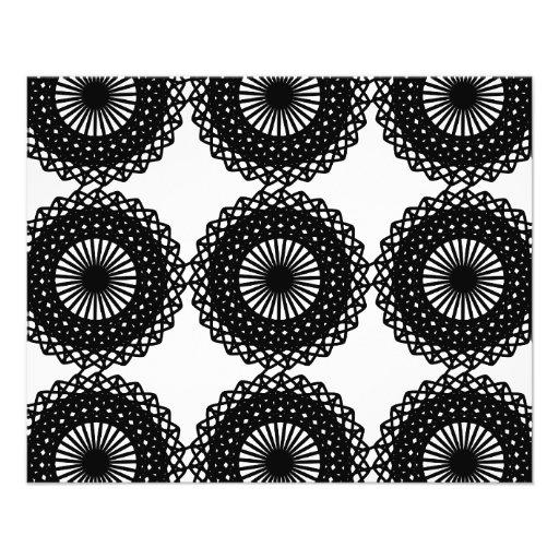 Diseño negro del modelo del cordón. Personalizado Tarjetas Informativas