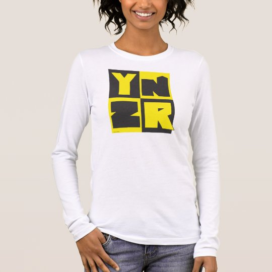 Diseño negro y amarillo de la serie de YNZR Camiseta De Manga Larga