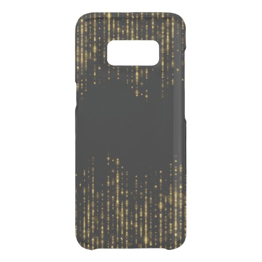 Diseño negro y atractivo del purpurina del oro funda para samsung galaxy s8 de uncommon