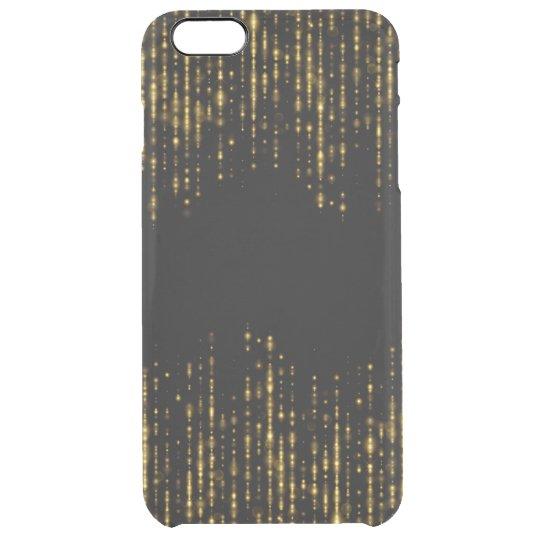 Diseño negro y atractivo GR3 del purpurina del oro Funda Transparente Para iPhone 6 Plus