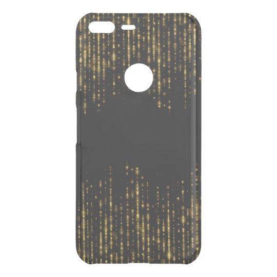 Diseño negro y atractivo GR4 del purpurina del oro Funda Para Google Pixel XL De Uncommon