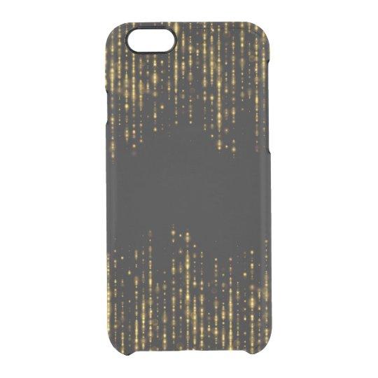 Diseño negro y atractivo GR4 del purpurina del oro Funda Transparente Para iPhone 6/6s