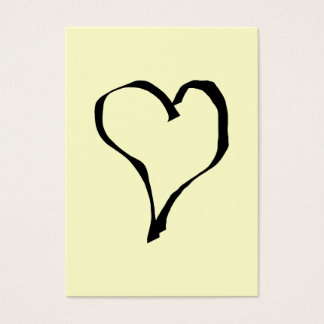 Diseño negro y poner crema del corazón del amor tarjeta de negocios