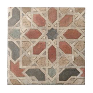 Diseño No-Embellecido II de Marrakesh Azulejo Cuadrado Pequeño