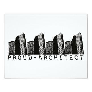Diseño orgulloso del arquitecto invitación 10,8 x 13,9 cm