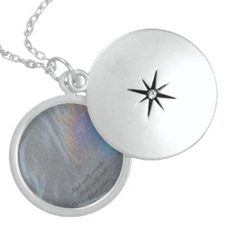 Diseño original de la prisma de Djaneraimages Collar De Plata De Ley
