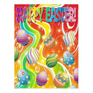 Diseño ornamental de los huevos de Pascua Tarjetas Postales