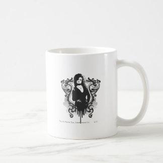 Diseño oscuro de los artes de Bellatrix Lestrange Taza Básica Blanca