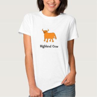 Diseño para mujer de la camiseta de la vaca de la