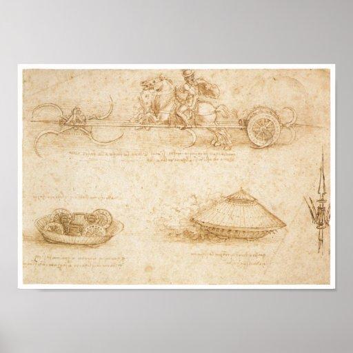 Diseño para un vehículo ligero blindado, Leonardo  Impresiones