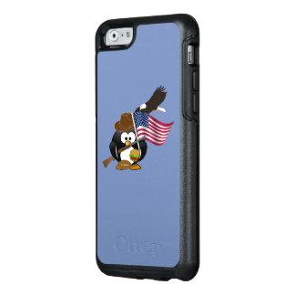 Diseño patriótico americano del pingüino con la funda otterbox para iPhone 6/6s