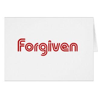 """Diseño """"perdonado"""" del cristiano tarjeta de felicitación"""