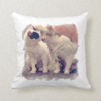 diseño pintado gatos lindos de la almohada