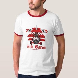 Diseño plano de la camiseta del barón rojo fresco