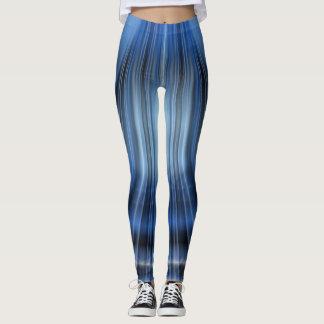 Diseño Polaina-Moderno negro y azul Leggings