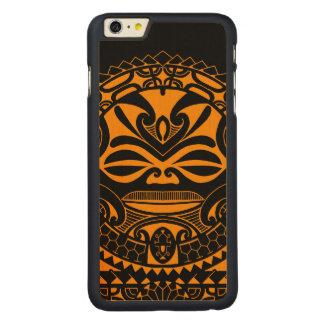 Diseño polinesio de la máscara del tiki funda para iPhone 6 de carved® de arce