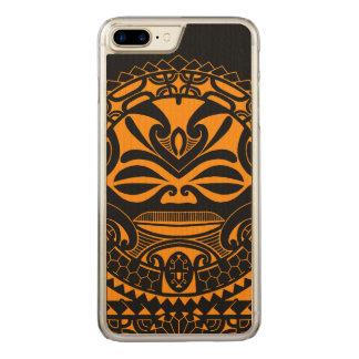 Diseño polinesio de la máscara del tiki funda para iPhone 7