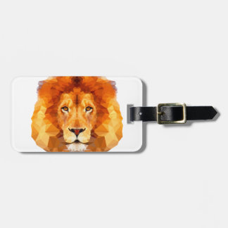 Diseño polivinílico bajo. Ejemplo del león Etiqueta Para Maletas