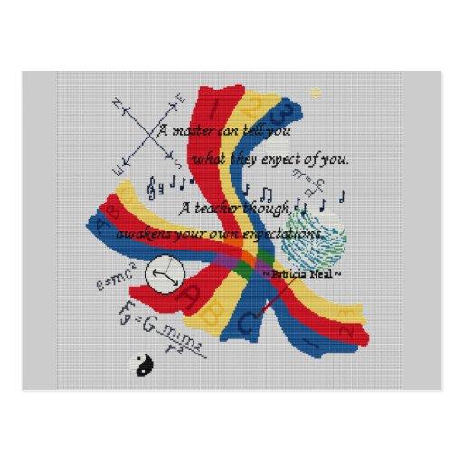 Diseño PRINCIPAL del tributo del profesor del PROF Tarjetas Postales