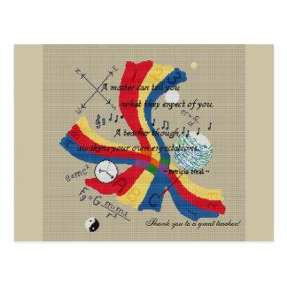 Diseño PRINCIPAL del tributo del profesor del PROF Tarjeta Postal