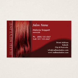 Diseño principal rojo de la tarjeta de visita