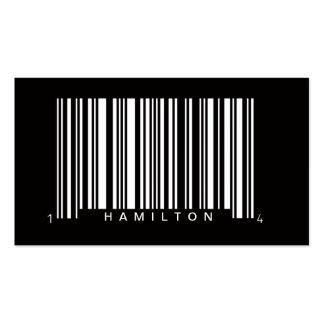 diseño profesional de la clave de barras tarjetas de visita