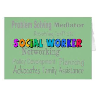 Diseño profesional de los deberes del asistente so tarjeta de felicitación