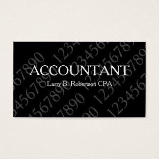 Diseño profesional del contable tarjeta de negocios