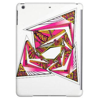 Diseño psicodélico rosado en la caja mate del aire