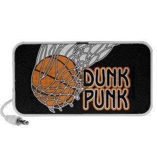 diseño punky del baloncesto de la clavada laptop altavoces