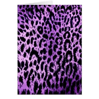 Diseño púrpura de la tela del estampado de animale tarjetas