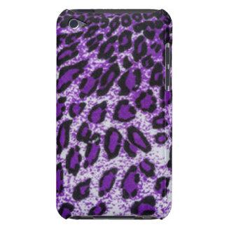 Diseño púrpura negro de la impresión del modelo cubierta para iPod de barely there