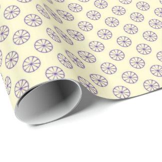 Diseño púrpura papel de regalo