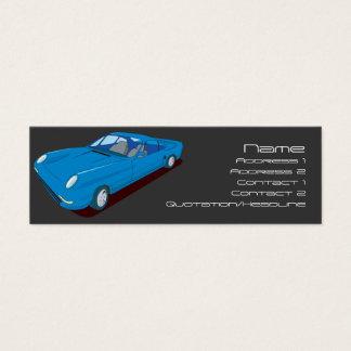Diseño que no engorda del coche del concepto tarjeta de visita pequeña