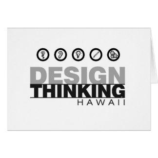 Diseño que piensa el logotipo del concepto de Hawa Tarjeta De Felicitación