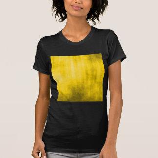 Diseño rayado amarillo del Grunge Camiseta