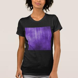 Diseño rayado violeta del Grunge Camiseta