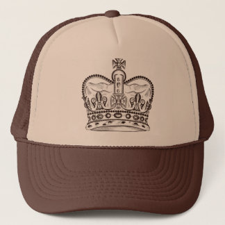 Diseño real con la corona en estilo del vintage gorra de camionero